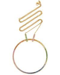 Robinson Pelham - 18k Gold, Sapphire And Tsavorite Necklace - Lyst