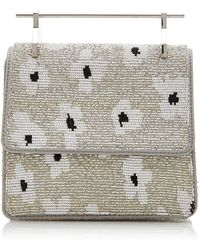 M2malletier X Pura Utz Mini Collectionneuse Floral Beaded - Gray