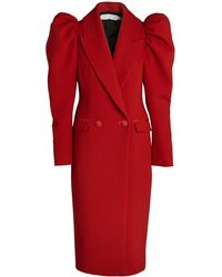 Unttld Cocoro Italian Double-crepe Wool Coat - Red