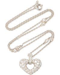 Gioia 18k Gold, Platinum And Diamond Necklace - White