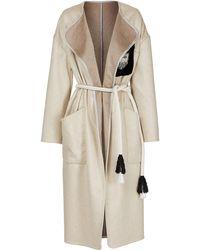 Maticevski Blazen Coat With Belt - Natural