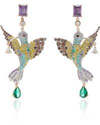 Anabela Chan Hummingbird 18k Gold Vermeil Multi-stone Earrings - Multicolour