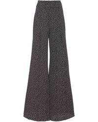 Alexis Minna Polka-dot Wide-leg Pant - Blue
