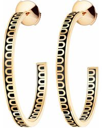 Davidor L'arc 18k Yellow Gold And Lacquered Ceramic Hoop Earrings - Black