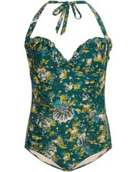 Anna Sui Mermaids Swimsuit - Green