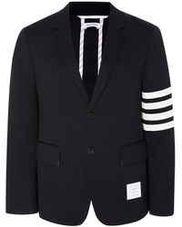 Thom Browne Unconstructed Striped Cotton-twill Blazer - Blue