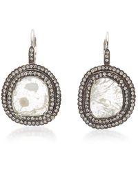Amrapali Victorian 18k White Gold Diamond Earrings