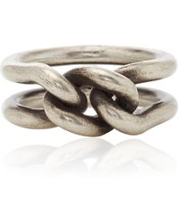 M. Cohen 3mm Curb Band Ring - Metallic