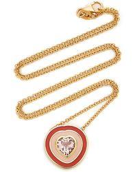 Sig Ward 18k Gold, Enamel And Morganite Necklace - Metallic