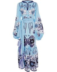 Yuliya Magdych - Poppies Embroidered Maxi Dress - Lyst