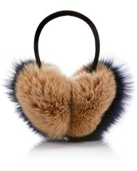 Pologeorgis - Two-tone Fox-fur Earmuffs - Lyst