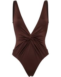 Dodo Bar Or Tannie Gathered One-piece Swimsuit - Brown