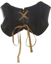 TOME Leather Lace Up Belt - Black