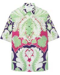 Valentino Oversized Printed Cotton-poplin Shirt - Multicolor