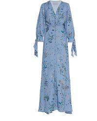 Luisa Beccaria - Floral-print Crepe Maxi Dress - Lyst