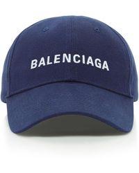 Balenciaga Embroidered Cotton-twill Baseball Cap - Blue