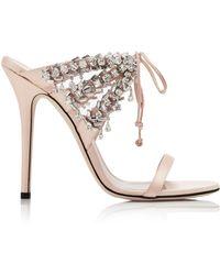 Giuseppe Zanotti - Crystal-embellished Satin Sandals - Lyst