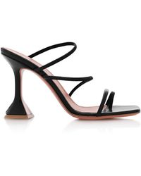 AMINA MUADDI Naima Strappy Leather Sandals - Black
