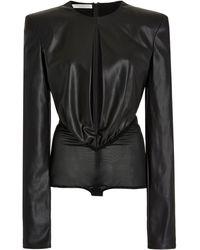 Philosophy Di Lorenzo Serafini Eco-leather Bodysuit - Black