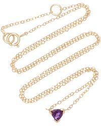 Shahla Karimi - Trillion 14k Gold Amethyst Necklace - Lyst