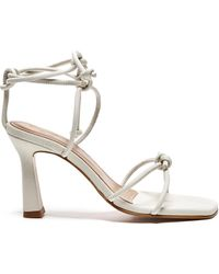 Flattered Rachel Leather Knotted Sandals - White