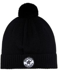 Perfect Moment Patch Ii Wool-blend Beanie - Black