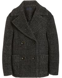 Proenza Schouler Wool Plaid Double-breasted Coat - Gray