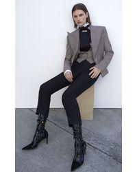 Alexandre Vauthier Plaid Wool Tailored Vest - Multicolour