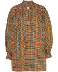 Roseanna Odd Plaid Mini Dress - Multicolour