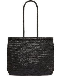 St. Agni Bagu Woven Leather Tote - Black