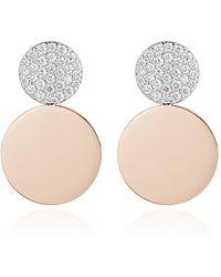 WALTERS FAITH Lytton 2 18k Rose-gold And Diamond Disc Drop Earrings - Pink