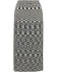 JOSEPH Space-dyed Wool Midi Skirt - Black