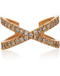 Eva Fehren - X Rose Gold And Diamond Earcuff - Lyst