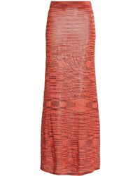 Alexis Monse Space-dyed Knit Maxi Skirt - Red