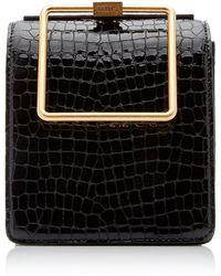 Marge Sherwood Croc-embossed Leather Top-handle Bag - Black