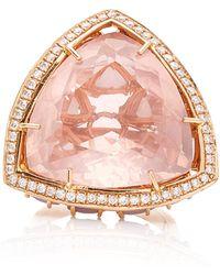 Karma El Khalil - Horizon Rose Quartz And Opal Ring - Lyst