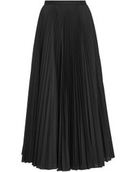 Claudia Li - Pleat On Pleat Midi Skirt - Lyst