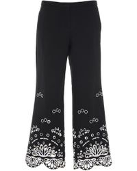 Emilio Pucci - Eyelet Cropped Pant - Lyst