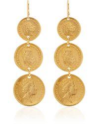 Ben-Amun Gold-plated Coin Earrings - Metallic