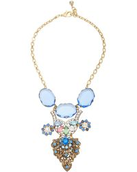 Lulu Frost One-of-a-kind Gold-plated, Crystal, And Glass Necklace - Blue