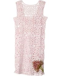 Tuinch - Crochet Cotton Mini Dress - Lyst