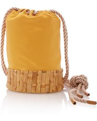 Glorinha Paranagua Saigon Satin Bag - Yellow
