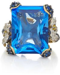 Anabela Chan - Cinderella 18k Gold, Sapphire And Diamond Ring - Lyst