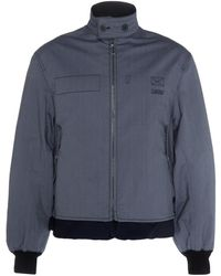 Lanvin - Striped Blouson Bomber Jacket - Lyst