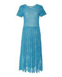 Michael Kors - Crewneck Crochet Dress - Lyst
