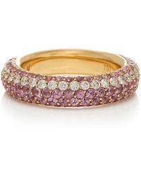 Robinson Pelham 18k Gold, Sapphire, And Diamond Ring - Pink
