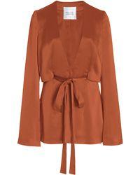 Galvan London Slashed Satin Jacket - Orange