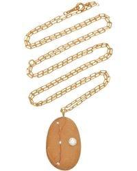 CVC Stones Dear 18k Gold, Diamond And Stone Necklace - Orange