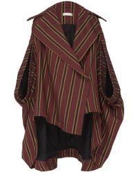 Palmer//Harding - Stripe Crest Poncho Coat - Lyst