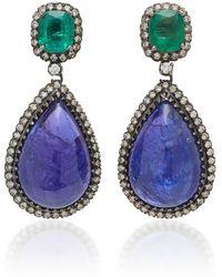 Amrapali 18k Gold Multi-stone Earrings - Blue